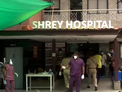गुजरातको कोभिड अस्पतालमा आगलागीः ८ कोरोना संक्रमितको मृत्यु