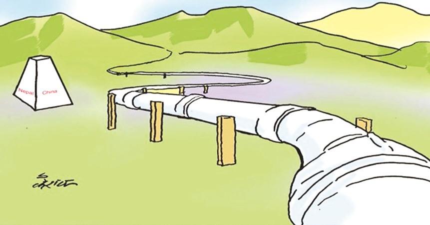 केरुङदेखि काठमाडौँ पेट्रोलियम पाइपलाइनको अध्ययन