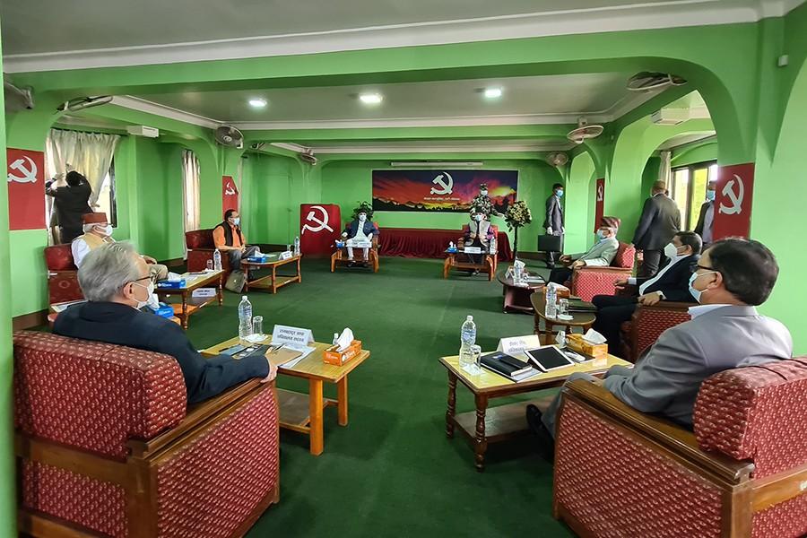 नेपाल कम्युनिष्ट पार्टी (नेकपा) को सचिवालय बैठक सुरु