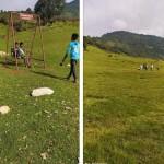 समाजसेवी साउँद द्वारा पर्यटकिय स्थलकाे रूपमा विकसित भैरहेकाे बगलेकमा पिङ निर्माण ।।